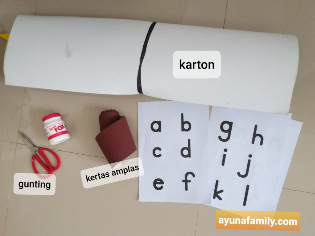 cara membuat sand paper letter sendiri