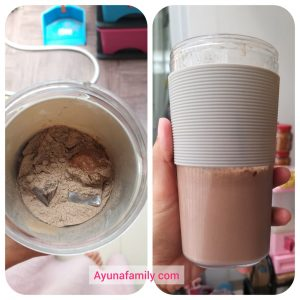 Minuman cokelat rasa makanan diet ashitaki creamy latte