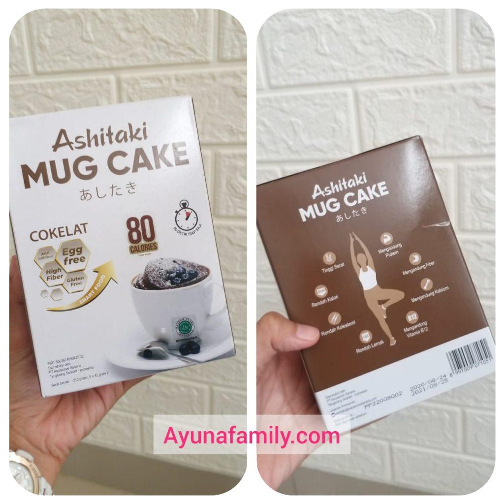Makanan diet Ashitaki Mug Cake Rasa Cokelat