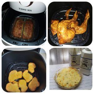 Ragam makanan hasil memasak di Air Fryer Yong Ma