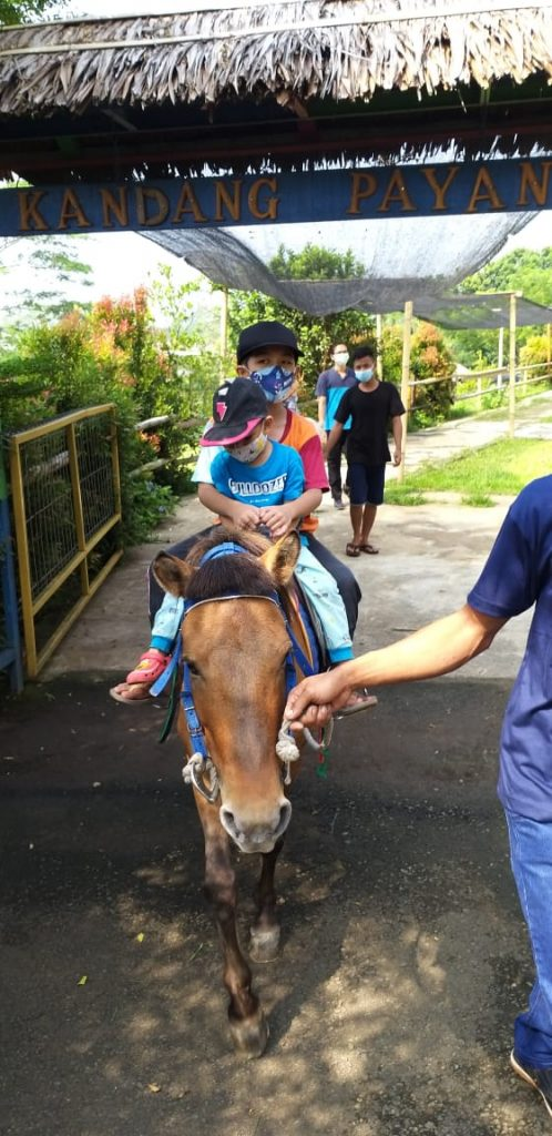 Berkuda di telaga pelangi payang